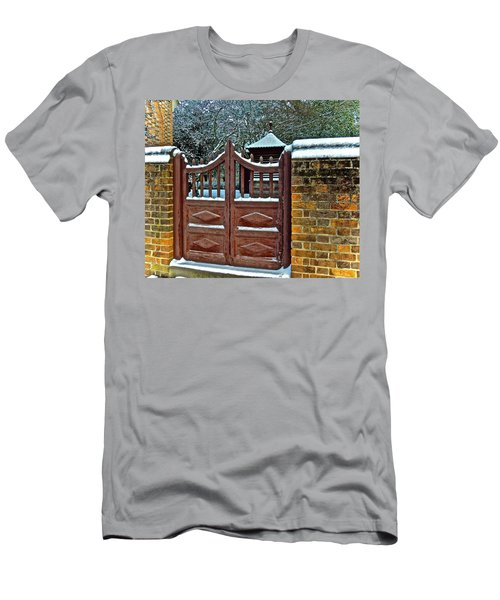 Men's T-Shirt (Athletic Fit) featuring the photograph Winter Gate by Don Moore