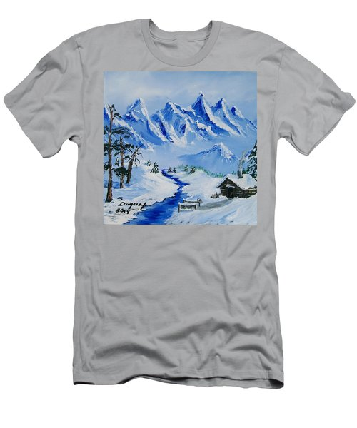 Winter In The Rockies Men's T-Shirt (Athletic Fit)