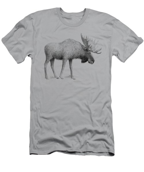 Winter Moose Men's T-Shirt (Athletic Fit)
