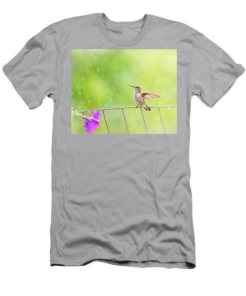Wistful Hummingbird Men's T-Shirt (Athletic Fit)