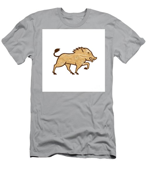 Wood Boar Marching Side Retro Men's T-Shirt (Athletic Fit)