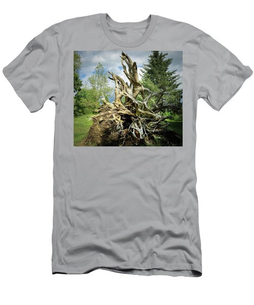 Men's T-Shirt (Athletic Fit) featuring the photograph Wood Log In Nature No.6  by Juan Contreras