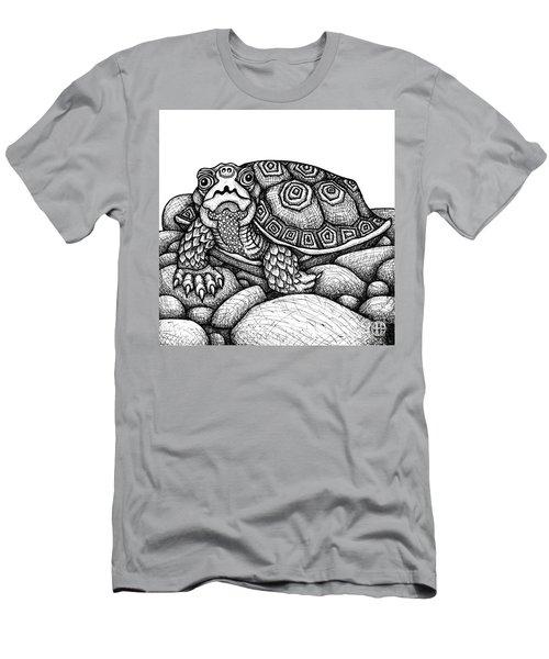 Wood Turtle Men's T-Shirt (Athletic Fit)