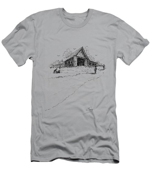 Yard-work On The Farm Men's T-Shirt (Athletic Fit)