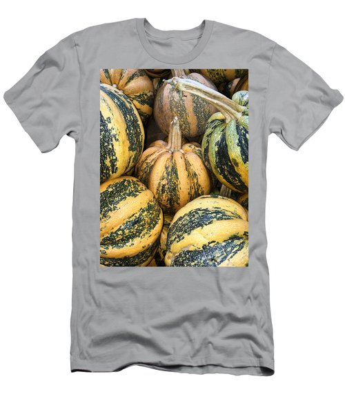 Yellow And Green Pumpkins Men's T-Shirt (Athletic Fit)