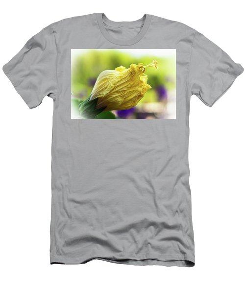 Yellow Mature Hibiscus  Men's T-Shirt (Athletic Fit)