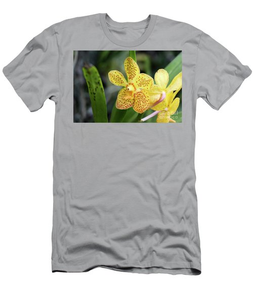 Yellow Spotted Orchids Men's T-Shirt (Athletic Fit)