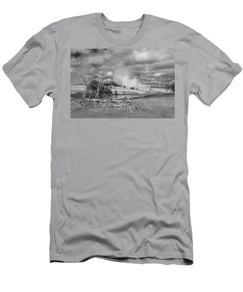 Men's T-Shirt (Athletic Fit) featuring the photograph Yellowstone Steam by Matthew Irvin