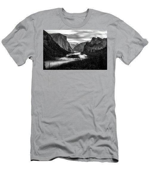 Men's T-Shirt (Athletic Fit) featuring the photograph Yosemite Fog 1 by Stephen Holst