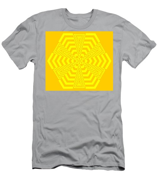 Young At Heart Yellow Men's T-Shirt (Athletic Fit)