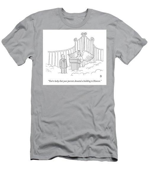 Your Parents Donated Men's T-Shirt (Athletic Fit)