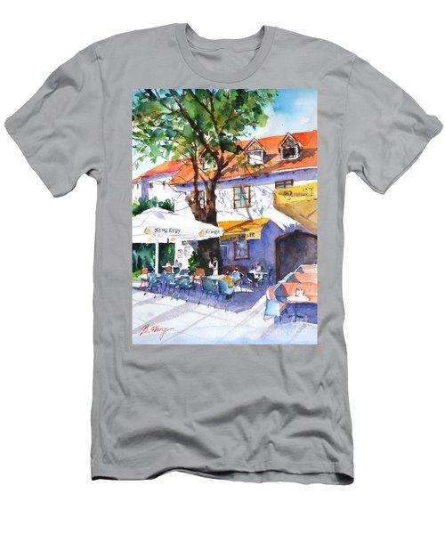 Zagreb Cafe #3 Men's T-Shirt (Athletic Fit)