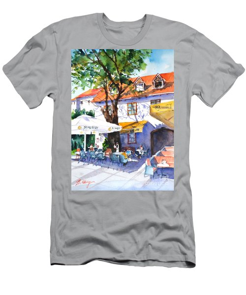 Zagreb Cafe #3 Men's T-Shirt (Athletic Fit)