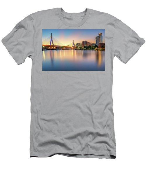 Zakim Bridge At Dawn Men's T-Shirt (Athletic Fit)