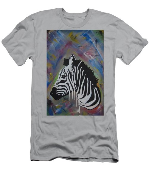 Zebra Drip Men's T-Shirt (Athletic Fit)
