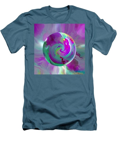 Men's T-Shirt (Slim Fit) featuring the painting   Perpetual Morning Glory by Robin Moline