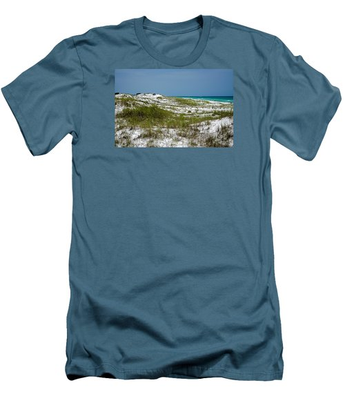 Men's T-Shirt (Slim Fit) featuring the photograph  Dunes    Panama City Beach  by Susan  McMenamin