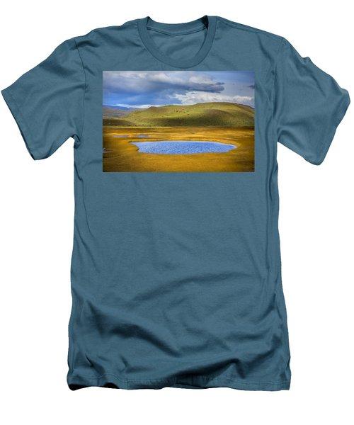 Patagonian Lakes Men's T-Shirt (Athletic Fit)