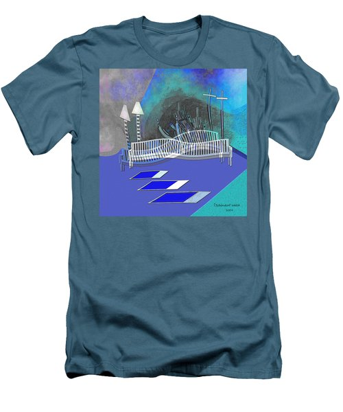 112 This Earthquake Feeling   Men's T-Shirt (Slim Fit) by Irmgard Schoendorf Welch