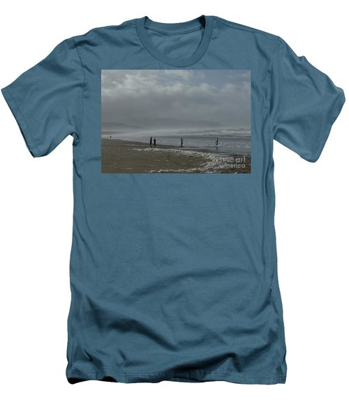 Wave Handstand  Men's T-Shirt (Slim Fit) by Susan Garren