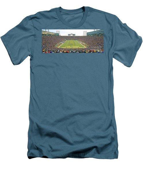 0349 Lambeau Field Panoramic Men's T-Shirt (Slim Fit) by Steve Sturgill