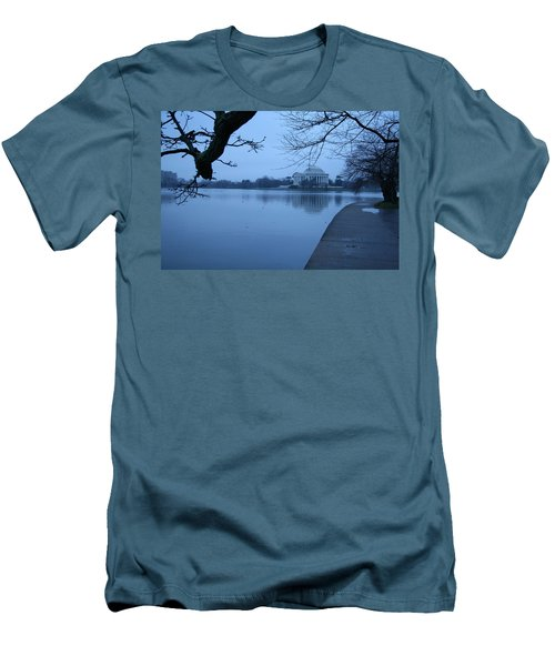 Men's T-Shirt (Slim Fit) featuring the photograph A Blue Morning For Jefferson by Cora Wandel