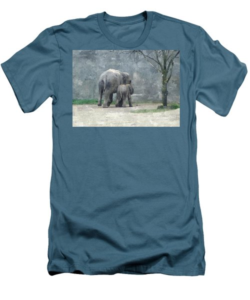 A Mothers Love Men's T-Shirt (Slim Fit) by Sara  Raber