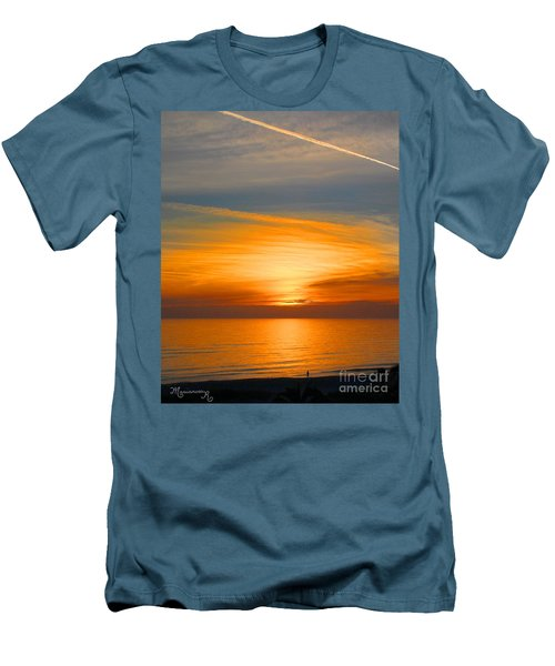 A Walk At Sunset Men's T-Shirt (Athletic Fit)
