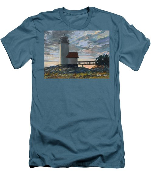 Annisquam Light Men's T-Shirt (Slim Fit) by Eileen Patten Oliver