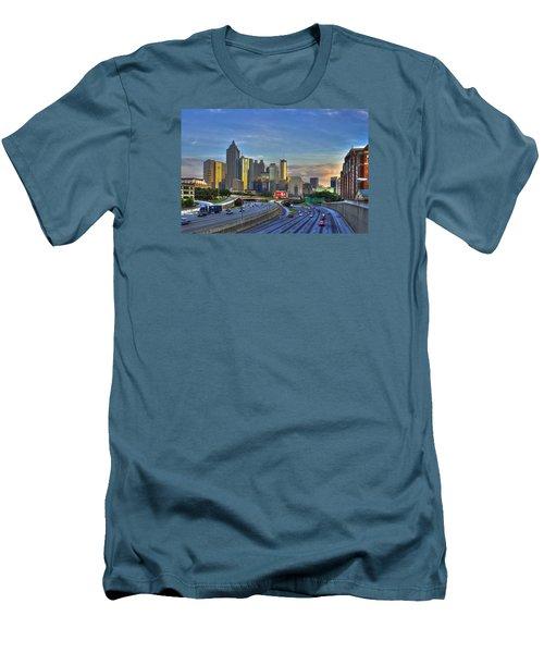 Atlanta Sunset Reflections Men's T-Shirt (Slim Fit) by Reid Callaway