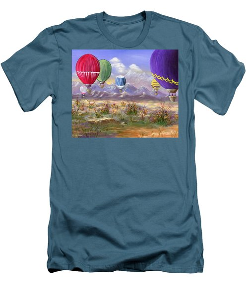 Men's T-Shirt (Slim Fit) featuring the painting Balloons by Jamie Frier