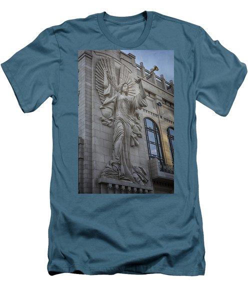 Bass Hall Angel Men's T-Shirt (Slim Fit) by Joan Carroll