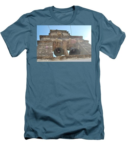 Men's T-Shirt (Slim Fit) featuring the photograph Bell Tower 1584 by George Katechis