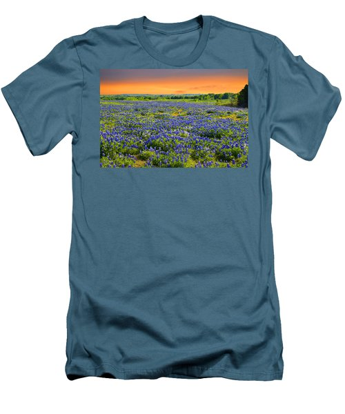 Bluebonnet Sunset  Men's T-Shirt (Athletic Fit)