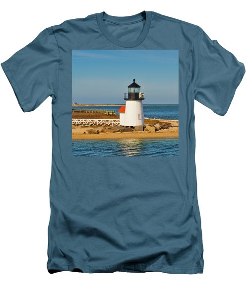 Brant Point Lighthouse Nantucket Men's T-Shirt (Athletic Fit)
