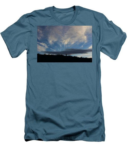 Men's T-Shirt (Slim Fit) featuring the photograph Chase The Moonlight by Tammy Espino