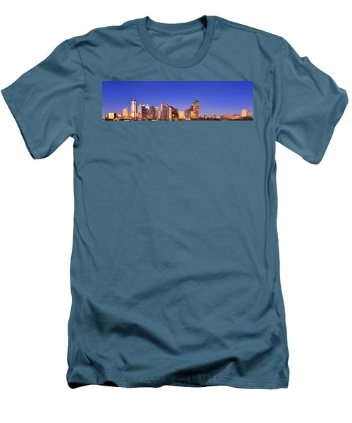 Men's T-Shirt (Slim Fit) featuring the photograph Dallas At Dawn by David Perry Lawrence