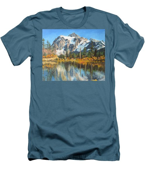 Fall Reflections - Cascade Mountains Men's T-Shirt (Athletic Fit)