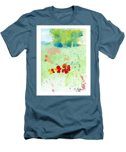 Field Of Flowers Men's T-Shirt (Slim Fit) by C Sitton