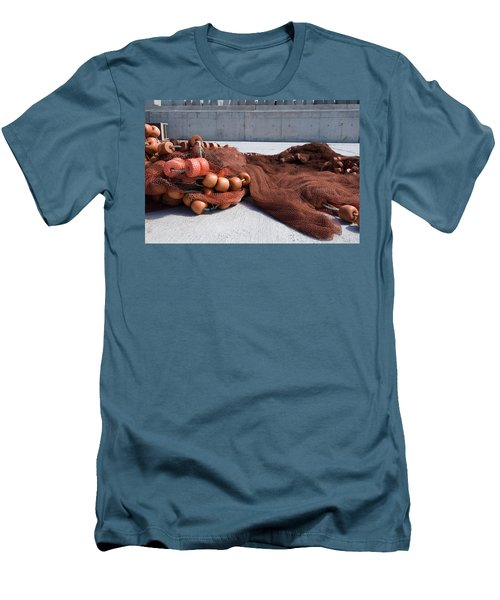 Fishing Nets Rest On Dock  Men's T-Shirt (Athletic Fit)