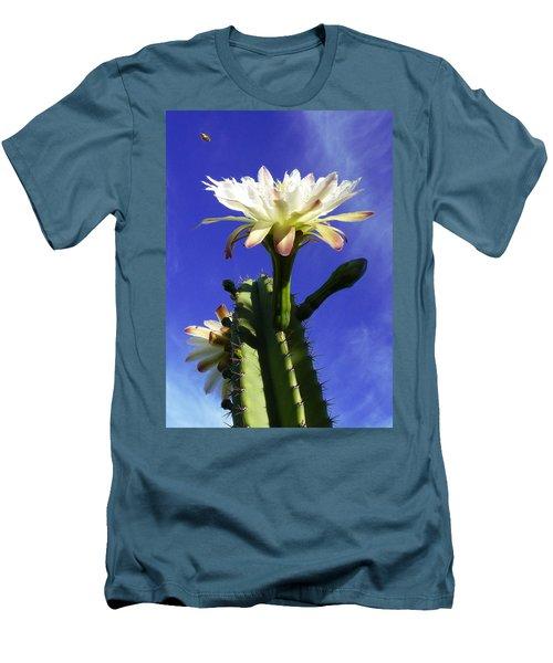 Flowering Cactus 3 Men's T-Shirt (Slim Fit) by Mariusz Kula