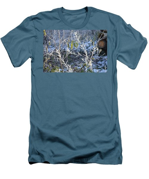 Men's T-Shirt (Slim Fit) featuring the photograph Frozen by Felicia Tica