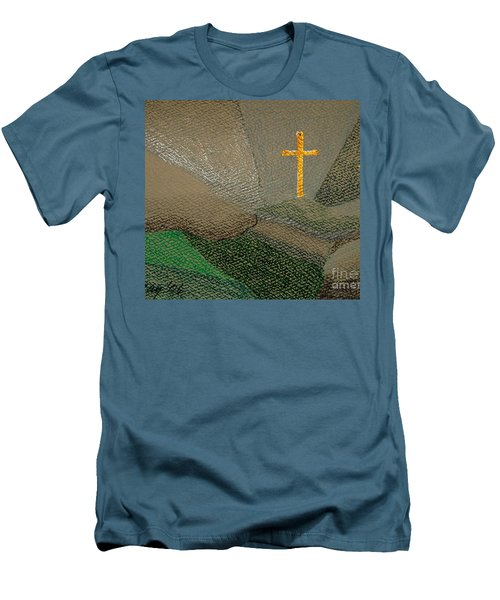 Depression And The Saviour Men's T-Shirt (Slim Fit) by Rod Ismay