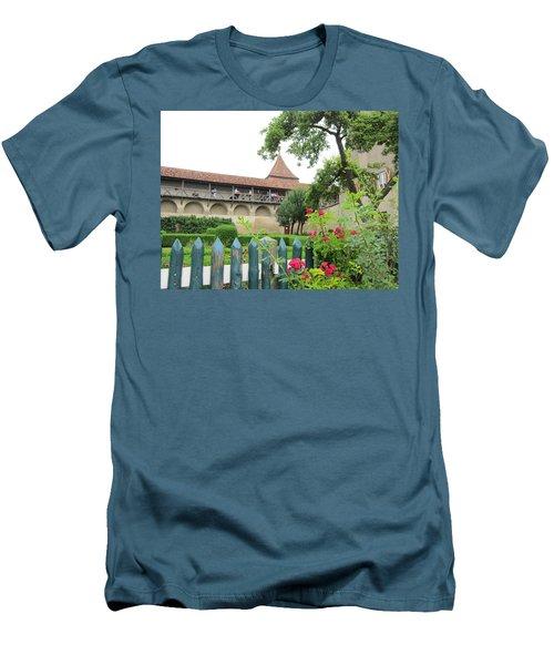Harburg Castle Men's T-Shirt (Slim Fit) by Pema Hou