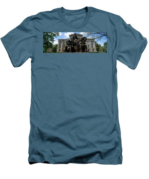 Low Angle View Of Statue Men's T-Shirt (Slim Fit) by Panoramic Images