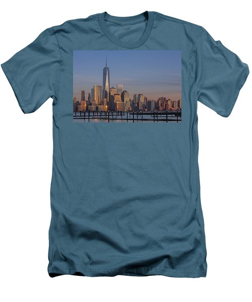 Lower Manhattan Skyline Men's T-Shirt (Athletic Fit)