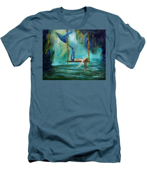 Mermaids Lazy Lagoon Men's T-Shirt (Athletic Fit)