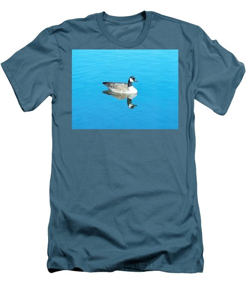 Men's T-Shirt (Slim Fit) featuring the photograph Mirror Goose by Kerri Mortenson