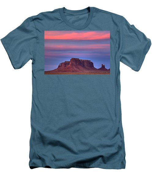 Monument Valley Sunset Men's T-Shirt (Athletic Fit)
