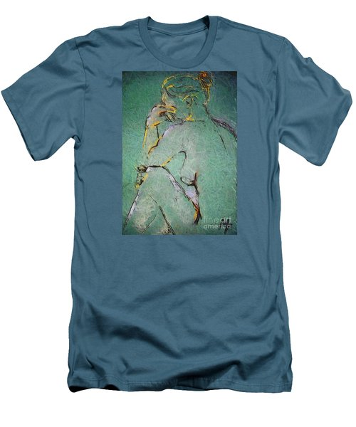Men's T-Shirt (Slim Fit) featuring the drawing Nude IIi  by Dragica  Micki Fortuna